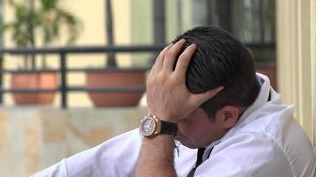 Sad And Depressed Man video