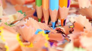 lápis e sobras espirais video