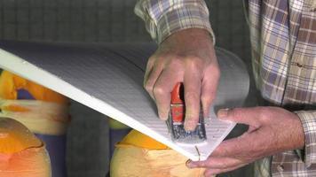 artesão shaper de pranchas de surf video
