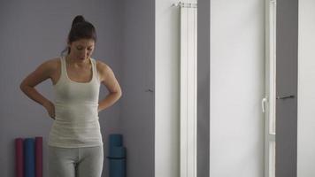 medindo a cintura após o treino