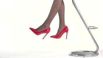 Damenbeine in High Heels.