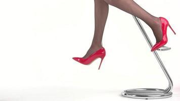 Beine einer Frau.