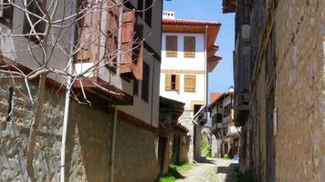 weergave van traditioneel ottoman anatolisch dorp, safranbolu, turkije