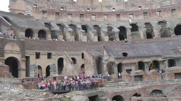 Colosseum interior Rome Italy video