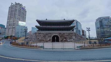 4k da giorno a notte timelapse heunginjimun gate, seoul corea