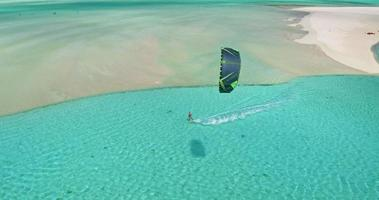 Kiteboarding aus der Luft video