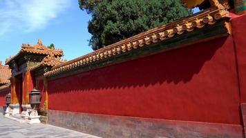 oriental red gate dentro da cidade proibida de pequim, china
