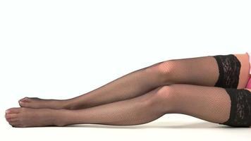 pernas isoladas de mulher. video