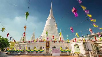 Thaïlande bangkok journée ensoleillée célèbre temple 4k hyper time lapse