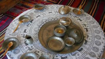 mock up della vita tradizionale del villaggio turco, safranbolu, turchia
