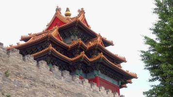 Eckturm im Kaiserpalast in Peking, China