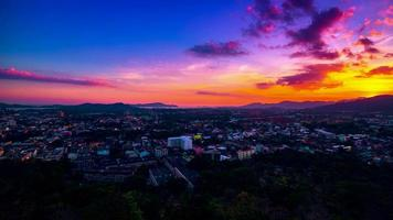 4K TimeLapse. Sunset over the Phuket Town, Thailand. January, 2016. video