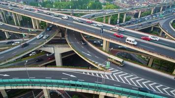 Shanghai city transportation time-lapse