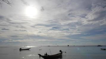 lapso de tempo de nuvem em movimento - na ilha de koh tao