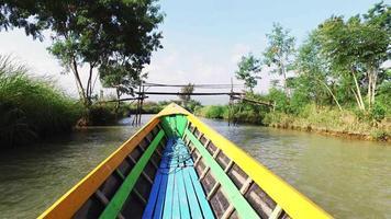 promenade en bateau touristique, lac Inle video