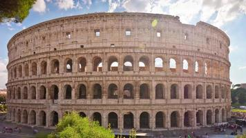 italy summer day rome city famous colosseum front famous panorama 4k time lapse video