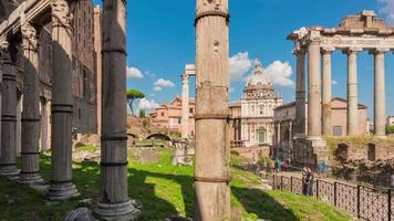 italy summer day sunny sky roman forum panorama 4k time lapse rome video