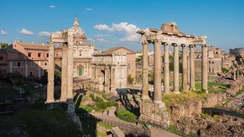italia giornata di sole roma città più famoso foro romano 4k lasso di tempo