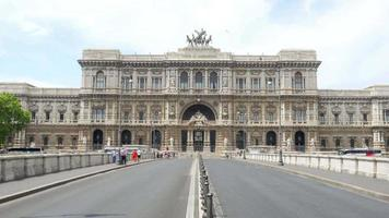 palazzo di giustizia a roma, italia video