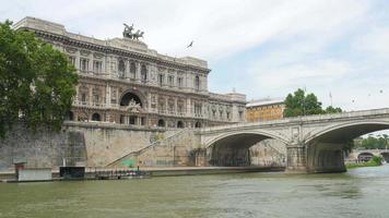 palazzo di giustizia, roma, italia, video