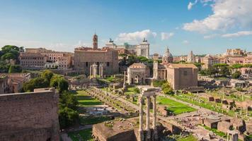 italy rome city summer day tourist most famous roman forum panorama 4k time lapse video