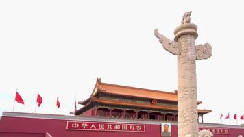 edifício tiananmen é um símbolo da república popular da china video
