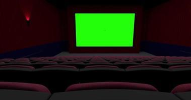 het lege theater beweegt vanaf de achterkant