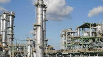 Chemical refinery plant video