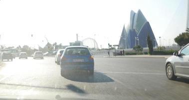 viagem por estrada em valência dia ensolarado dia ensolarado 4k espanha video