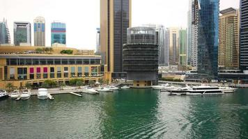 dubai marina yacht dock time lapse video