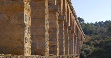 Tarragona puente del diablo vista de perto 4k