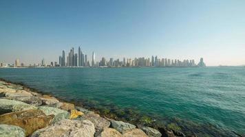 Tageszeit Dubai Marina Panorama Zeitraffer