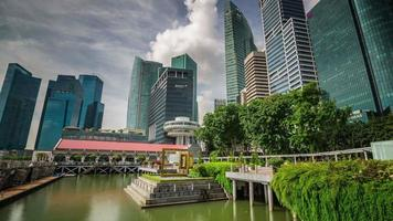 singapore downtown park bay giorno luce 4k lasso di tempo video