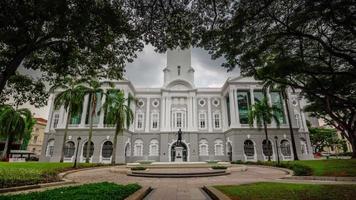 Teatro y sala de conciertos 4k lapso de tiempo de Singapur