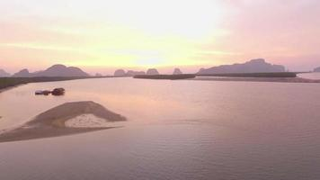 aerial photography islands in sunrise time video