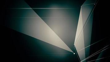 Resumo gerado por computador sem costura movimento geométrico abstrato de fundo caótico de pontos, linhas e triângulos em movimento lento.