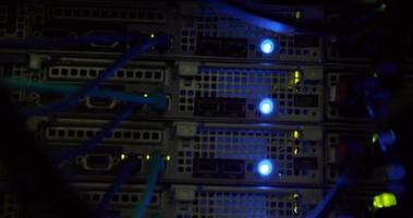 luzes piscando no servidor