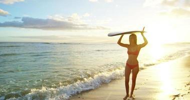 surfeur fille plage susnet