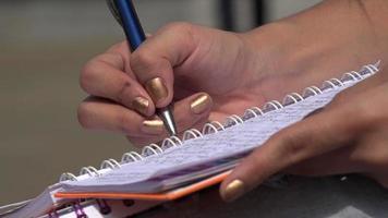 escrita, caneta, lápis, papel