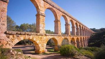 Spagna sole luce tarragona famoso ponte diablo 4k lasso di tempo