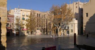 piazza della città di tarragona alla luce del sole 4K