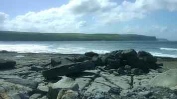 Foto de 4k de penhascos de vista de Moher na Irlanda video