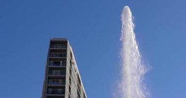 Fontana della città di Tarragona e costruzione 4K