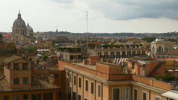 italia roma giorno d'estate gradini spagnoli top cityscapae panorama 4K video