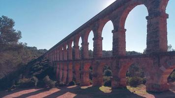 Spagna tarragona giornata di sole pont del diablo vista panoramica 4k lasso di tempo