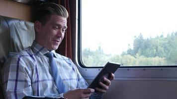 negócios no trem
