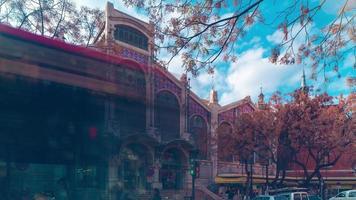 Spagna valencia città mercato ingresso 4K lasso di tempo