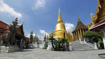 4K Time-Lapse of Wat Phra Kaew and Grand Palace during day light. (No people)