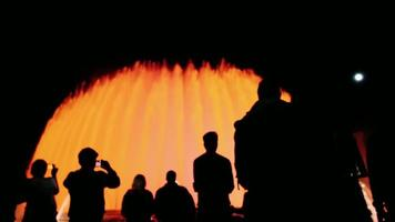 The Group has not recognized the people watching the show of luminous fountains in Barcelona, Spain
