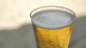 A glass of bubbly cold beer video